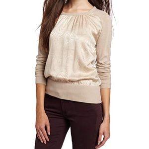 Trina Turk 100% Silk Merino Wool Paisley Sweater